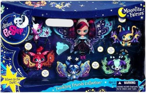 Littlest Pet Shop Moonlite Fairies Twinkling Friends Collection Exclusive Figure Set