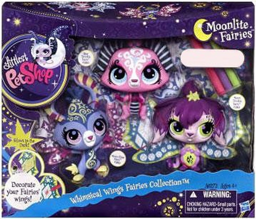 Littlest Pet Shop Moonlite Fairies Whimsical Wings Fairies Collection Exclusive Figure Set