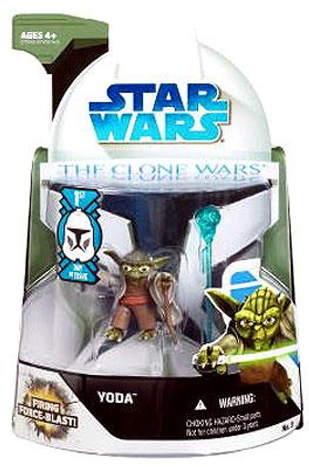 Star Wars The Clone Wars Clone Wars 2008 Yoda Action Figure #3 [First Day of Issue]