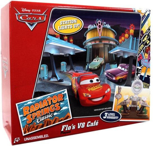 Disney Cars Radiator Springs Classic Flo's V8 Cafe Exclusive Playset