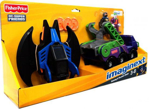 Fisher Price DC Super Friends Batman Imaginext Batwing & Joker Hauler Exclusive 3-Inch Figure Set