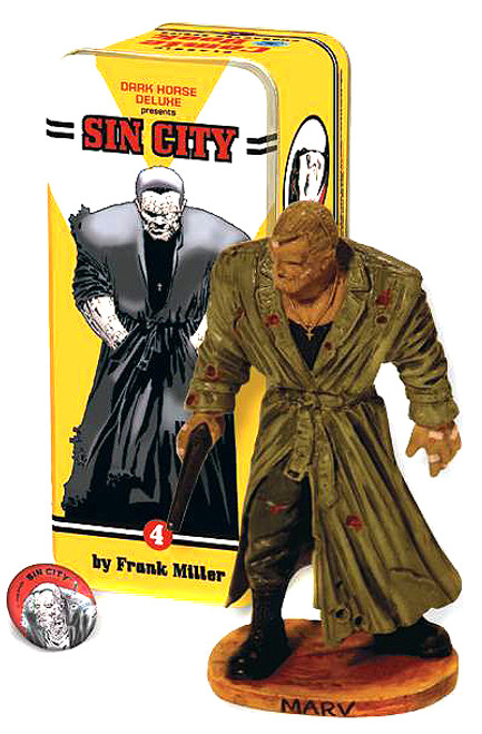 Sin City Classic Comic Book Characters Marv Statue #4