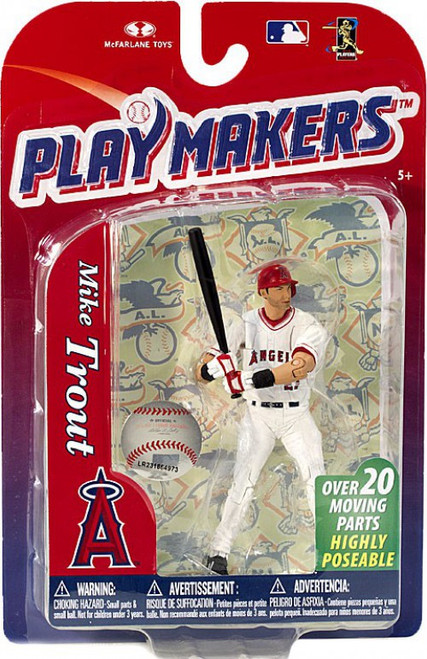McFarlane Toys MLB Los Angeles Angels Playmakers Series 4 Mike Trout Action Figure
