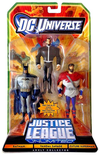 DC Universe Justice League Unlimited Batman, Vandal Savage & Future Superman Exclusive Action Figures