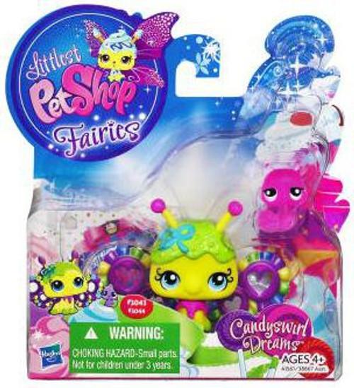 Littlest Pet Shop Fairies Candyswirl Dreams Fruity Sweet Fairy & Snail Figure 2-Pack #3043, 3044