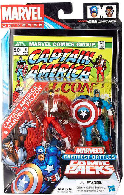 Marvel Universe Marvel's Greatest Battles Comic Packs Captain America & Falcon Exclusive Action Figure 2-Pack