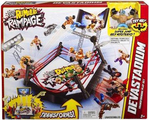 WWE Wrestling Rumblers Rampage Devastadium Mini Figure Playset