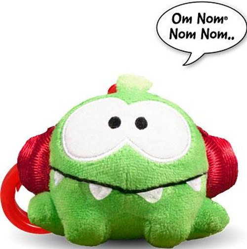 Cut the Rope Om Nom 3-Inch Plush Clip On [Headphones, Talking]