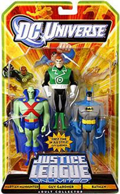 DC Universe Justice League Unlimited Martian Manhunter, Guy Gardner & Batman Exclusive Action Figure