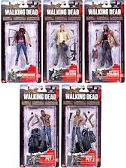McFarlane Toys AMC TV Walking Dead TV Series 3 Set of 5 Action Figures