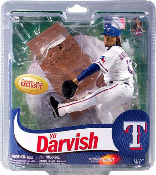 McFarlane Toys MLB Texas Rangers Sports Picks Collectors Club Exclusive Yu Darvish Exclusive Action Figure [White Jersey]
