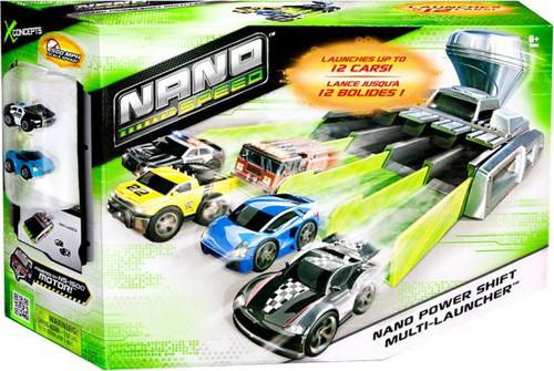 Nano Speed Nano Power Shift Multi-Launcher Micro Car Playset