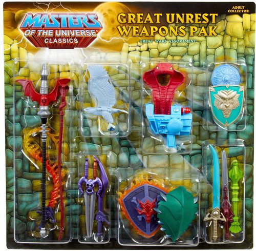 Masters of the Universe Classics Club Eternia Great Unrest Exclusive Action Figure Weapons Pak