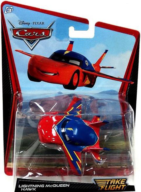 Disney Cars Take Flight Lightning McQueen Hawk Diecast Car