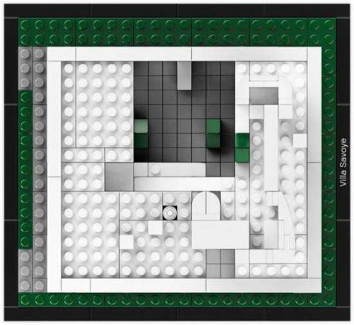 lego villa savoye instructions