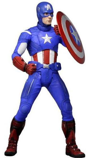 NECA Marvel Avengers Quarter Scale Captain America Action Figure
