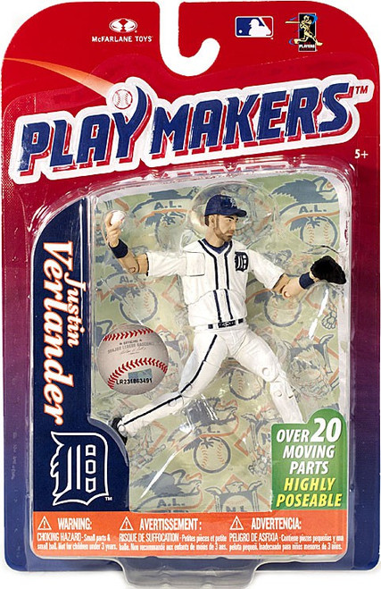 McFarlane Toys MLB Detroit Tigers Playmakers Series 4 Justin Verlander Action Figure