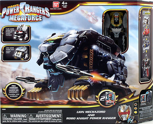 Power Rangers Megaforce Lion Mechazord and Robo Knight Power Ranger Action Figure Vehicle