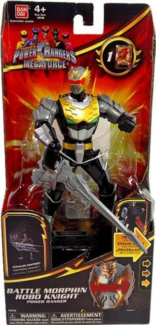 Power Rangers Megaforce Deluxe Battle Morphin Robo Knight Power Ranger Action Figure