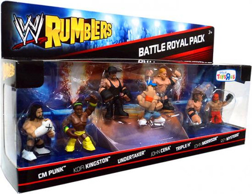 WWE Wrestling Rumblers Series 1 Battle Royal Pack Exclusive Mini Figure Set #1