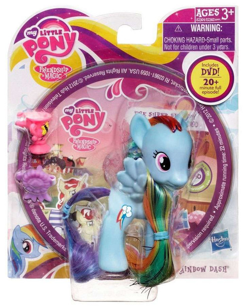 My Little Pony Friendship is Magic DVD Packs Rainbow Dash Figure [With Ribbon]