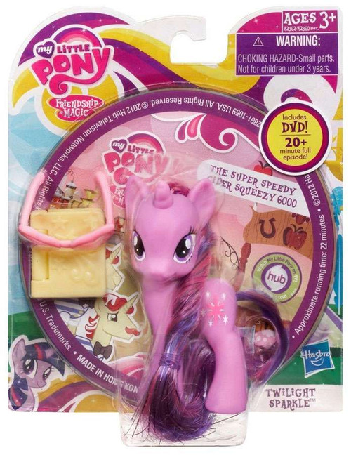 My Little Pony Friendship is Magic DVD Packs Twilight Sparkle Figure [With Book & Glasses]