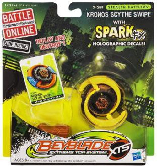 Beyblade XTS Stealth Battlers Spark FX Kronos Scythe Swipe Single Pack X-209