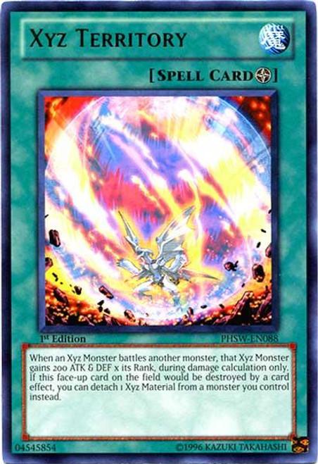 YuGiOh Zexal Photon Shockwave Rare Xyz Territory PHSW-EN088