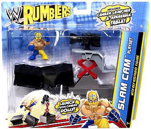 WWE Wrestling Rumblers Series 2 Slam Cam Mini Figure Playset [With Rey Mysterio]