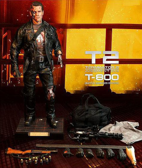 The Terminator Terminator 2 Judgment Day Masterpiece T-800 Collectible Figure [Battle Damaged]