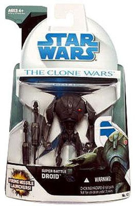 Star Wars The Clone Wars Clone Wars 2008 Super Battle Droid Action Figure #12