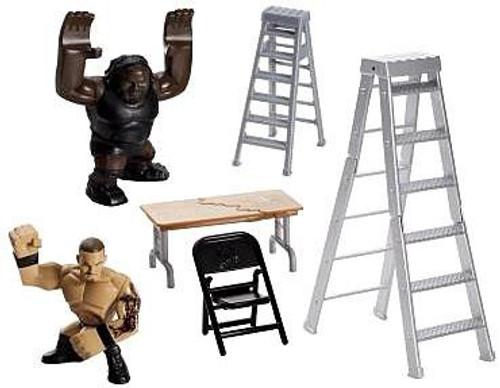 WWE Wrestling Rumblers Rampage Ladder Battle Mini Figure Playset