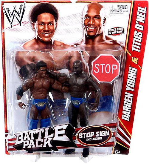 WWE Wrestling Series 21 Darren Young & Titus O'Neil Action Figure 2-Pack [Stop Sign]