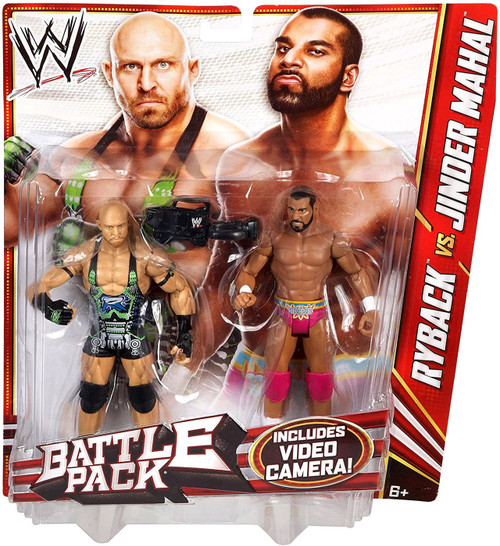 WWE Wrestling Series 22 Ryback vs. Jinder Mahal Action Figure 2-Pack [Video Camera]