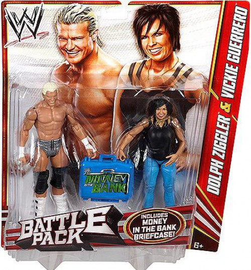 WWE Wrestling Series 22 Dolph Ziggler & Vickie Guerrero Action Figure 2-Pack [Money in the Bank Briefcase]