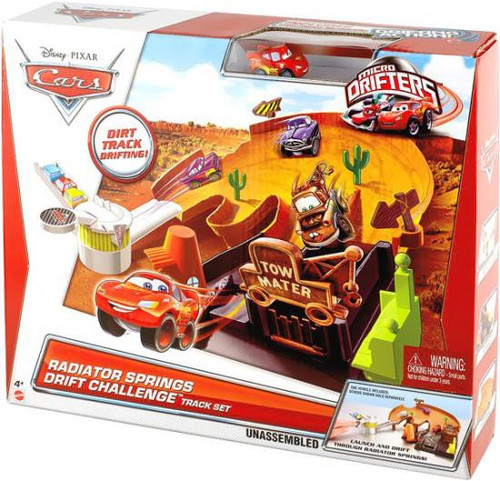 Disney Cars Micro Drifters Radiator Springs Drift Challenge Mini Car Playset