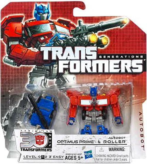 Transformers Generations 30th Anniversary Legends Optimus Prime & Autobot Roller Legends Action Figure 2-Pack