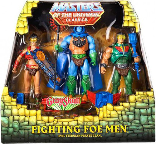 Masters of the Universe Classics Club Eternia Fighting Foe Men Exclusive Action Figure 3-Pack [The Power of Gray Skull]