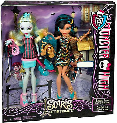 Monster High Scaris City of Frights Lagoona Blue & Cleo de Nile Exclusive 10.5-Inch Doll 2-Pack