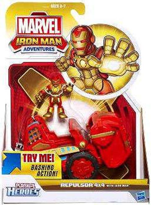 Marvel Playskool Heroes Iron Man Adventures Repulsor 4x4 Exclusive Action Figure Set