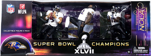 McFarlane Toys NFL Sports Picks 3-Packs Baltimore Ravens Super Bowl Action Figure 3-Pack