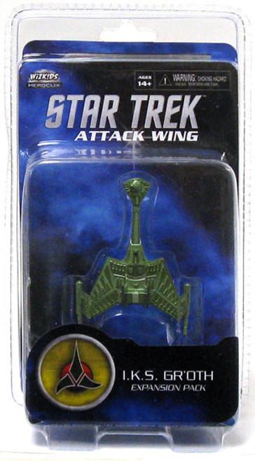 Star Trek Attack Wing Wave 0 Klingon I.K.S. Gr'oth Expansion Pack
