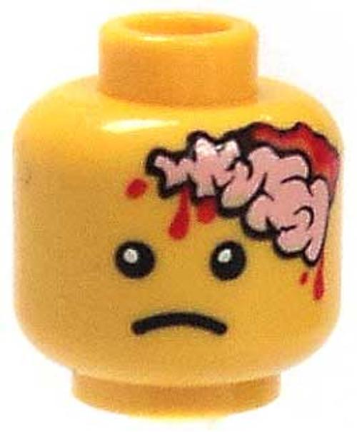 Citizen Brick Custom Printed Minifigure Parts Exposed Brain Loose Head [Yellow Loose]