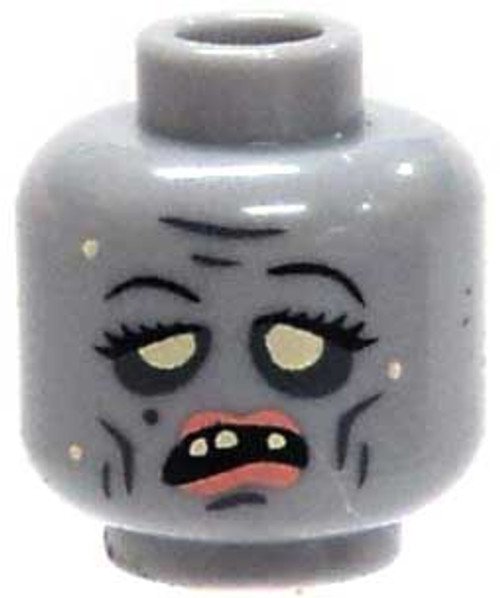 Citizen Brick Custom Printed Minifigure Parts Zombie with Lipstick Loose Head [Loose]