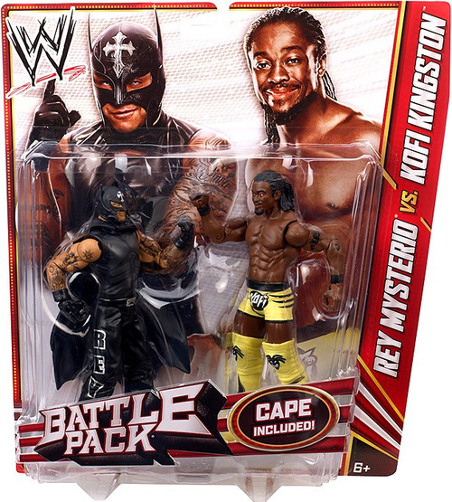WWE Wrestling Series 23 Rey Mysterio vs. Kofi Kingston Action Figure 2-Pack [Cape]