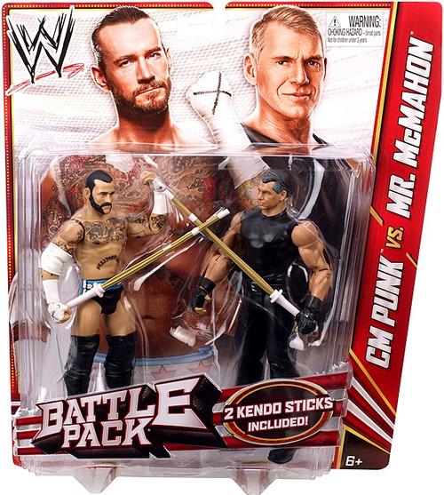 WWE Wrestling Series 23 CM Punk vs. Mr. McMahon Action Figure 2-Pack [2 Kendo Sticks]