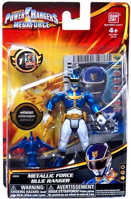 Power Rangers Megaforce Metallic Force Blue Ranger Action Figure