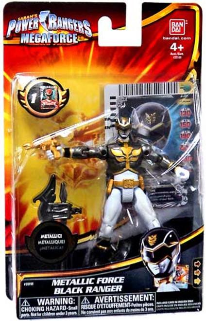 Power Rangers Megaforce Metallic Force Black Ranger Action Figure