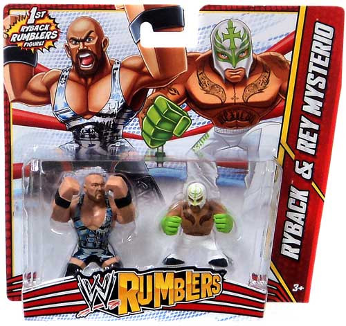 WWE Wrestling Rumblers Series 3 Ryback & Rey Mysterio Mini Figure 2-Pack