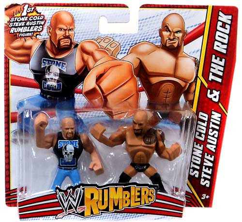 WWE Wrestling Rumblers Series 3 Stone Cold Steve Austin & The Rock Mini Figure 2-Pack